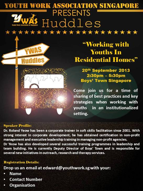 Huddles: Working with Youths in Residential Home